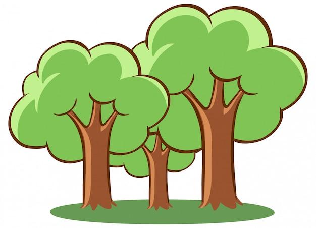 Bäume im park Kostenlosen Vektoren
