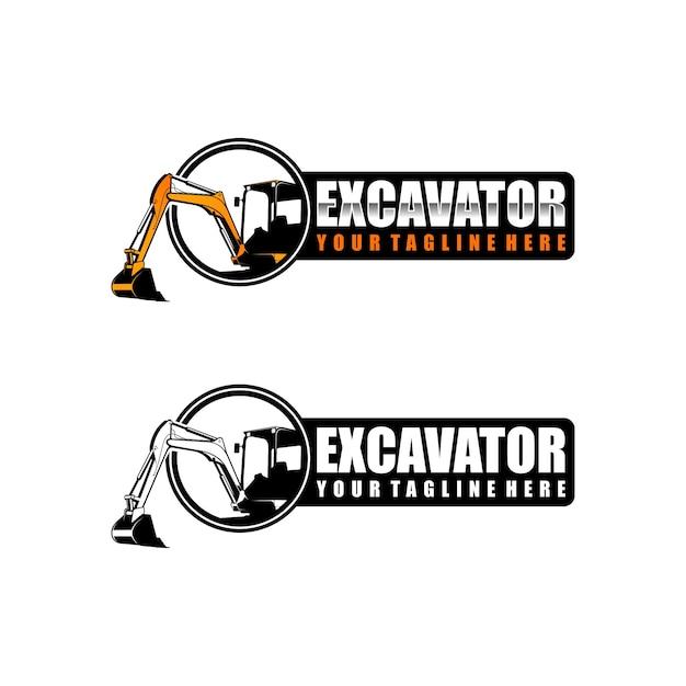 Bagger logo vorlage Premium Vektoren