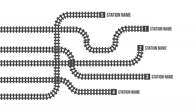Bahnhofskarte, u-bahn, infografik, eisenbahn. Premium Vektoren