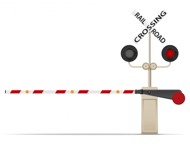 Bahnübergang vektor-illustration Premium Vektoren