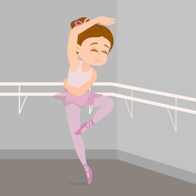 Ballerina üben balletttanz Premium Vektoren