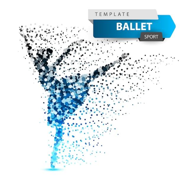 Ballett, tanz, mädchen - punktillustration Premium Vektoren