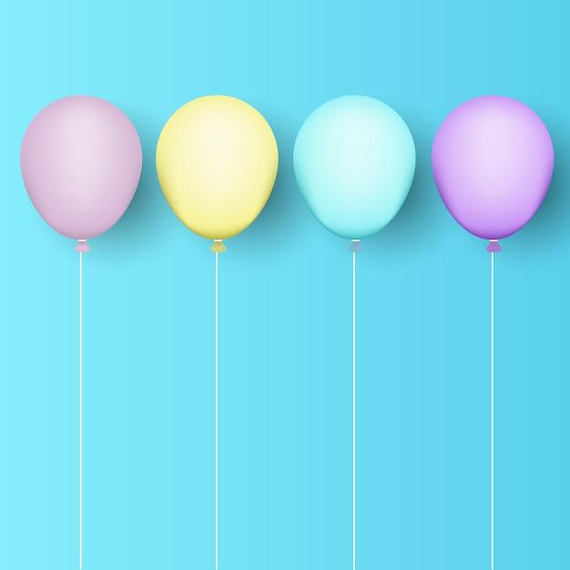 Ballons hintergrund Kostenlosen Vektoren