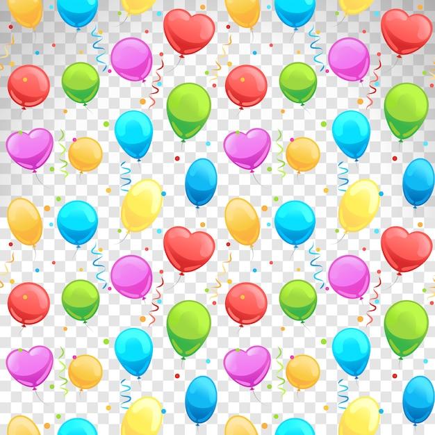 Ballons nahtlose muster Premium Vektoren
