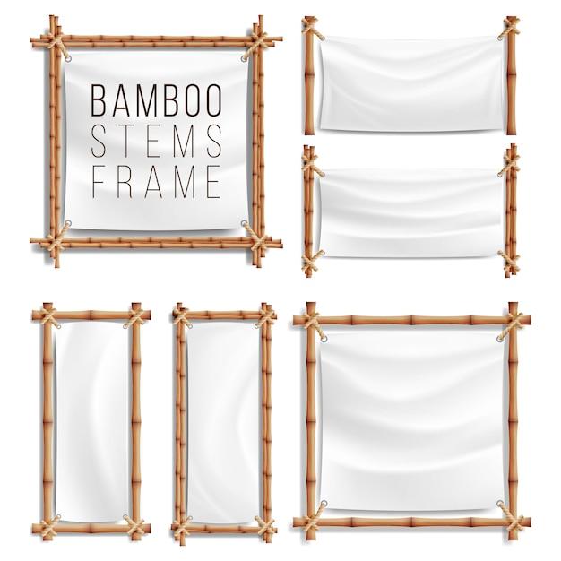 Bambusrahmen Premium Vektoren