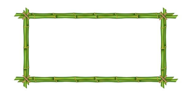 Bambusstammrahmen, leer. Premium Vektoren