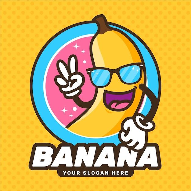 Bananenzeichen-logo Kostenlosen Vektoren