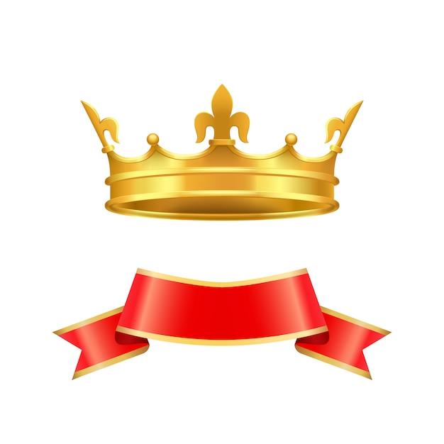 Band-und kronen-ikonen eingestellte vektor-illustration Premium Vektoren
