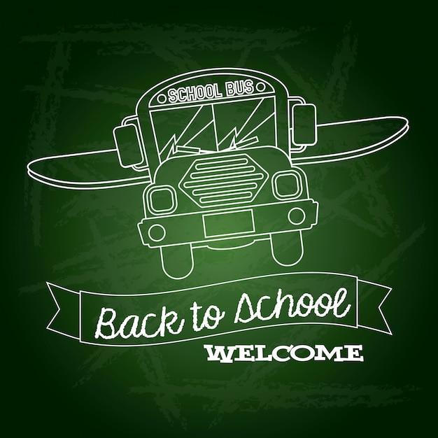 Band zurück zur schule begrüßen zu dürfen Premium Vektoren