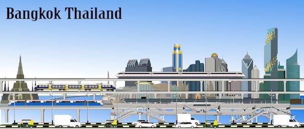 Bangkok-eisenbahn-transport-vektor Premium Vektoren