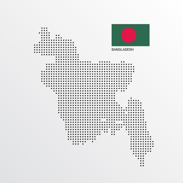 Bangladesch kartenentwurf Kostenlosen Vektoren