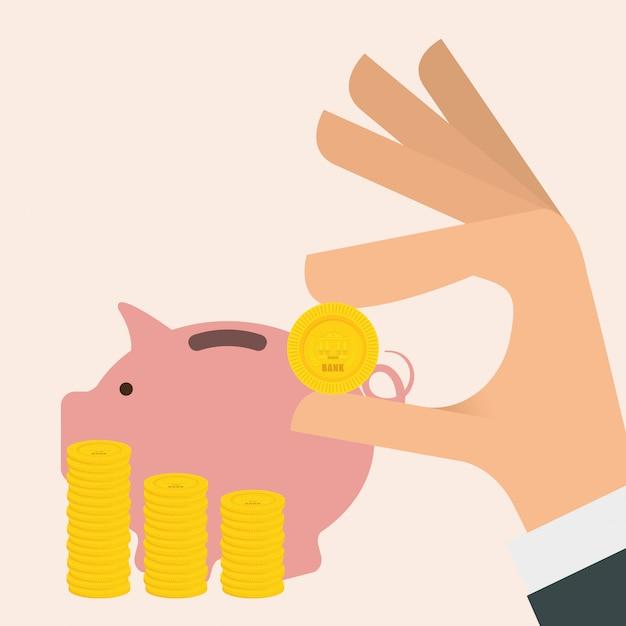 Bank design Premium Vektoren