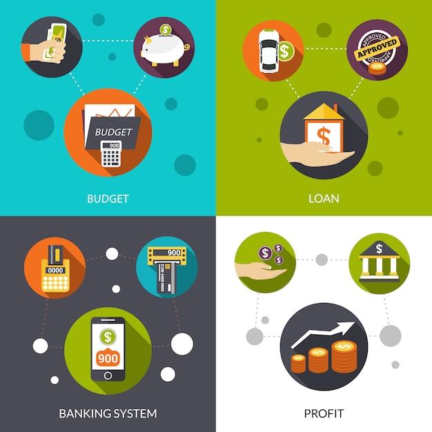 Bankensystem darlehen Kostenlosen Vektoren