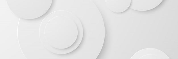 Banner abstrakter geometrischer weißer hintergrund Premium Vektoren