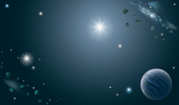 Banner des universums Premium Vektoren