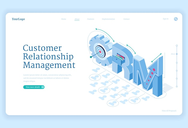 Banner für kundenbeziehungsmanagement Kostenlosen Vektoren