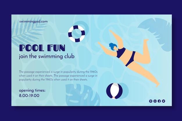Banner für schwimmverein Kostenlosen Vektoren