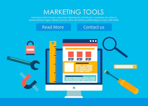 Banner für webdesign und -entwicklung Kostenlosen Vektoren