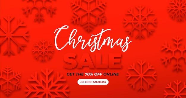 Banner für weihnachtspapiereffekt Kostenlosen Vektoren