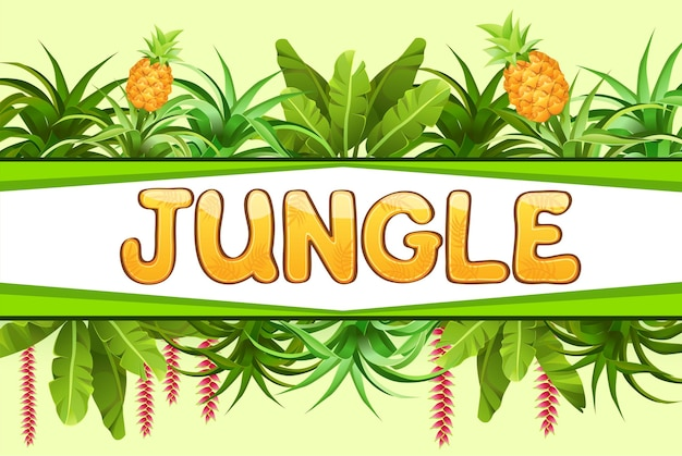Banner mit ananasbäumen. Kostenlosen Vektoren