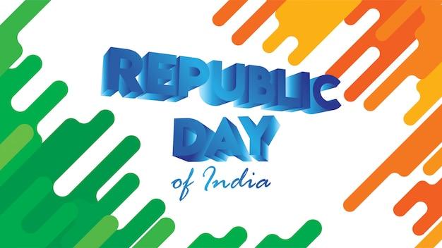 Banner oder flyer für den tag der republik indien Premium Vektoren