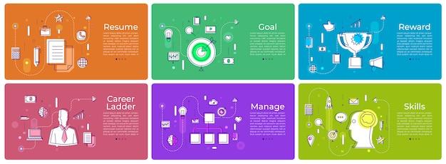 Banner set digitales marketing Premium Vektoren