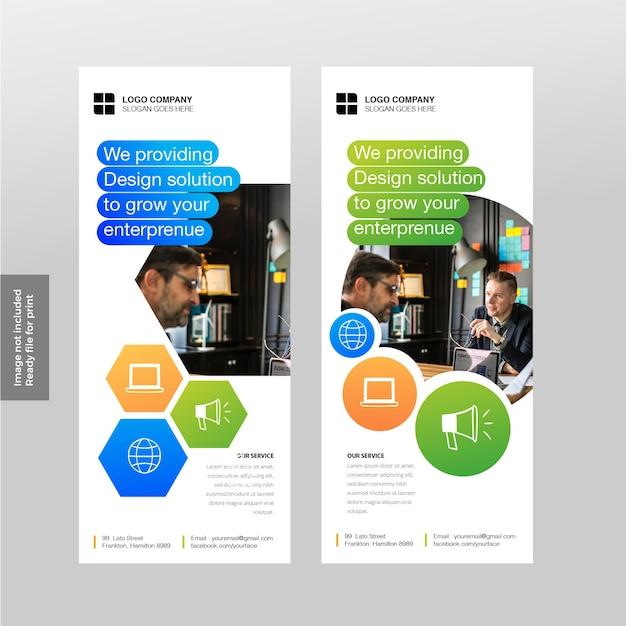 Banner soziale vorlage Premium Vektoren