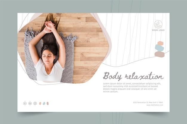 Banner-vorlage für meditation und achtsamkeit Kostenlosen Vektoren