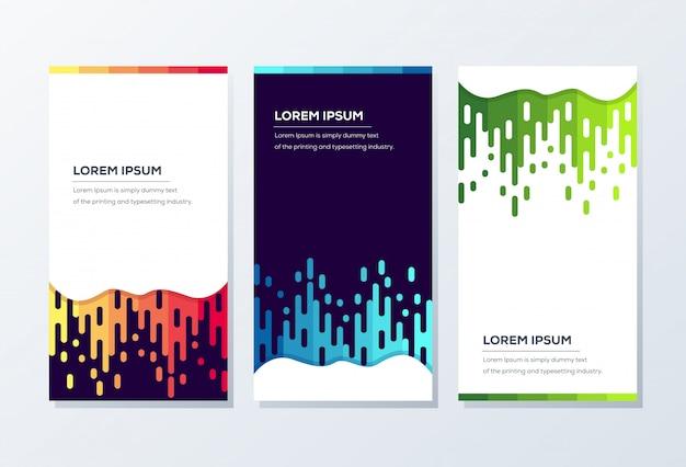 Banner-vorlage. präsentation und broschüre Premium Vektoren