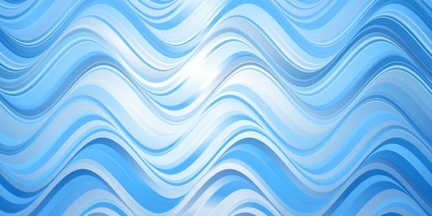 Bannerschablone mit einem abstrakten wellenentwurf Kostenlosen Vektoren