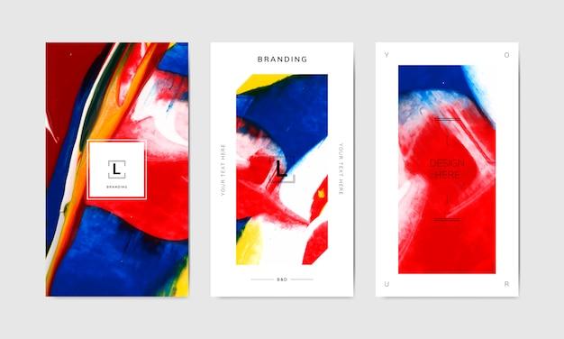 Bannervorlagen für künstlerisches branding Kostenlosen Vektoren