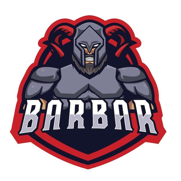 Barbar knight e sports-logo Premium Vektoren