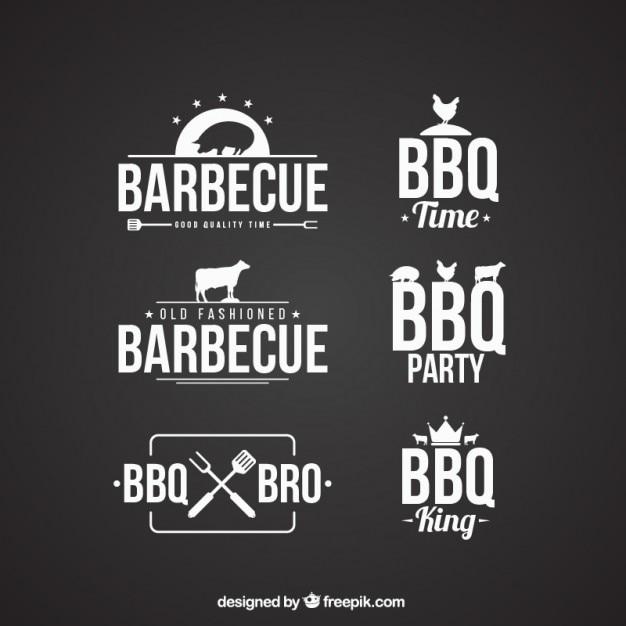 Barbecue abzeichen sammlung Kostenlosen Vektoren