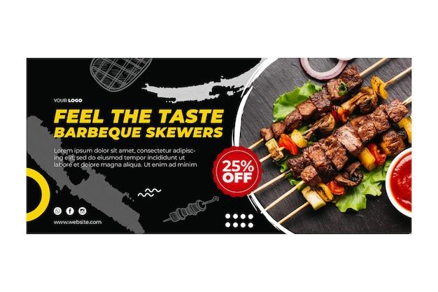 Barbecue banner vorlage Premium Vektoren