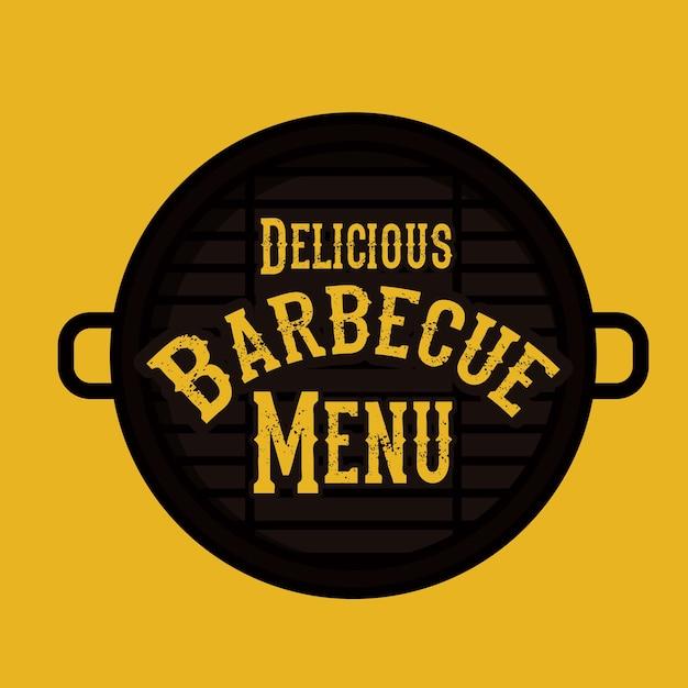 Barbecue-design Premium Vektoren
