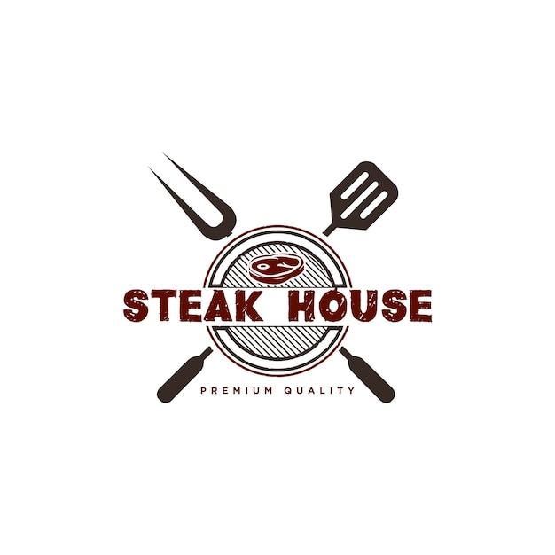 Barbecue-logo-design-illustration Premium Vektoren