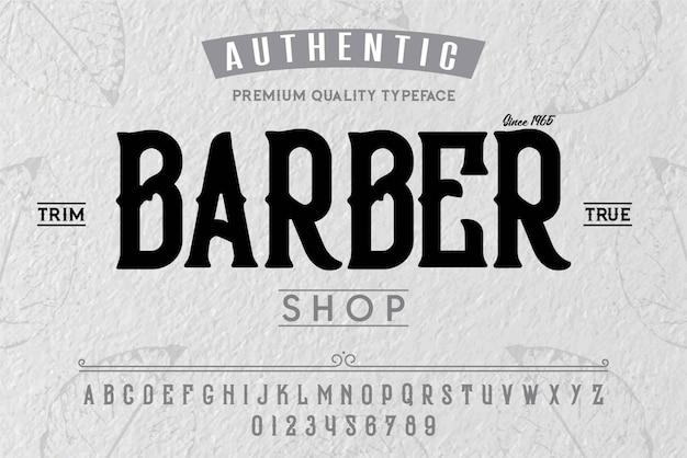 Barber shop schrift Premium Vektoren