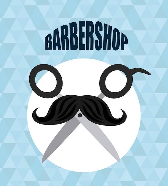 Barbershop-logo Kostenlosen Vektoren