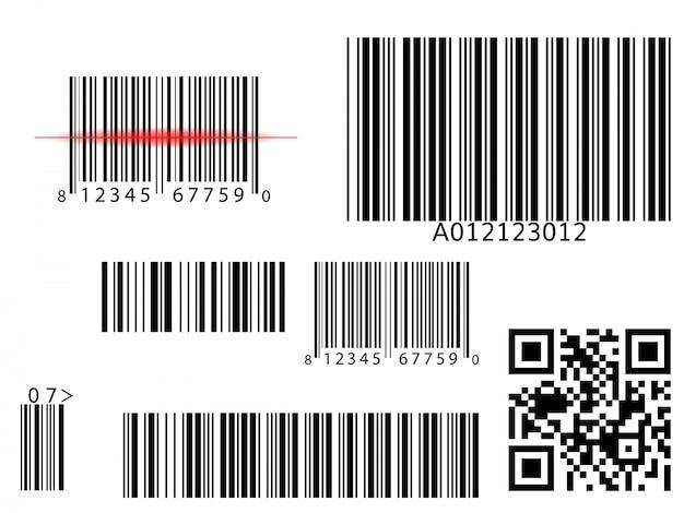 Barcode-scannen Premium Vektoren