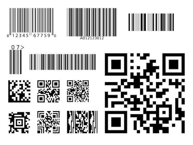 Barcode-symbol qr code-symbol Premium Vektoren