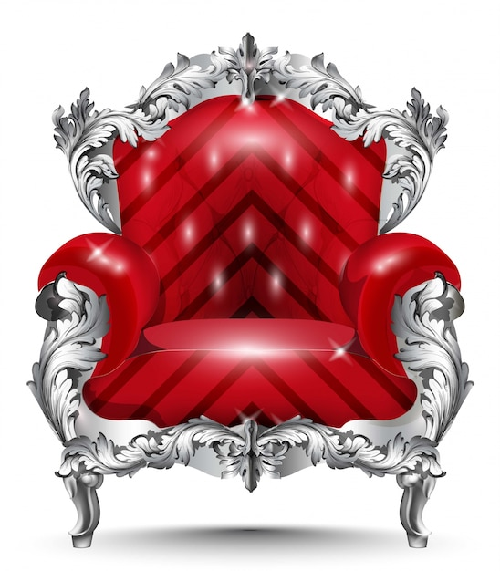 Barocke Sessel Silberschmuck Vintage Möbel Reich Geschnitzten Dekor