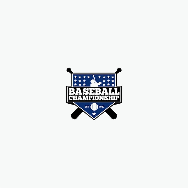 Baseball-Logo | Download der Premium Vektor