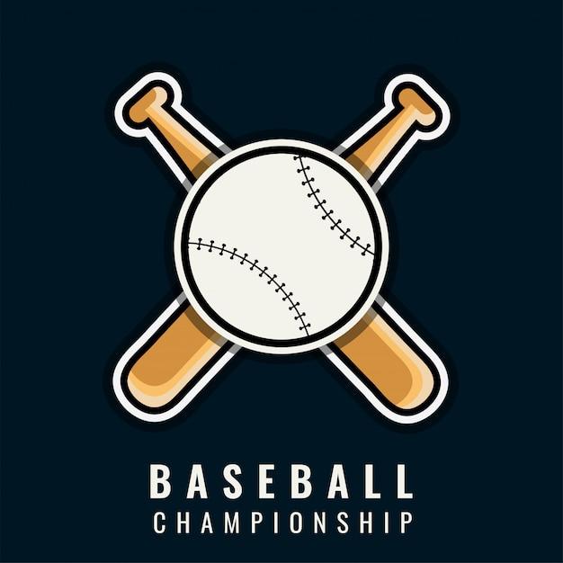 Baseball-Meisterschaft-Vorlage | Download der Premium Vektor