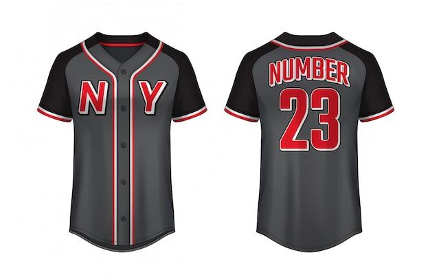 Baseball-t-shirt-entwurfsvorlage Premium Vektoren