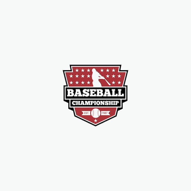 Baseball-Team-Logo | Download der Premium Vektor