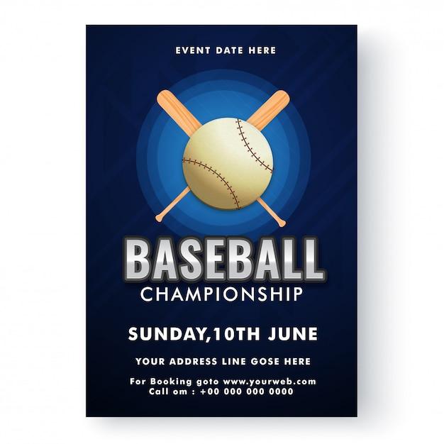 Baseball-Vorlage oder Flyer Design | Download der Premium Vektor