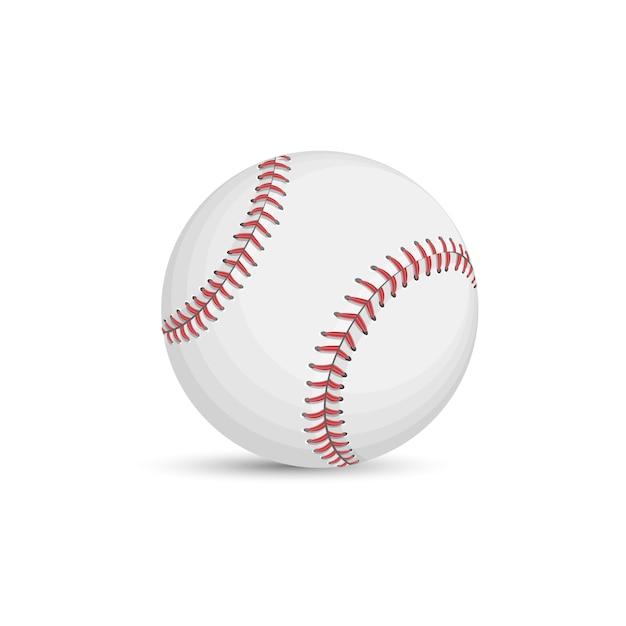 Baseballkugel getrennt auf weißem hintergrund Premium Vektoren