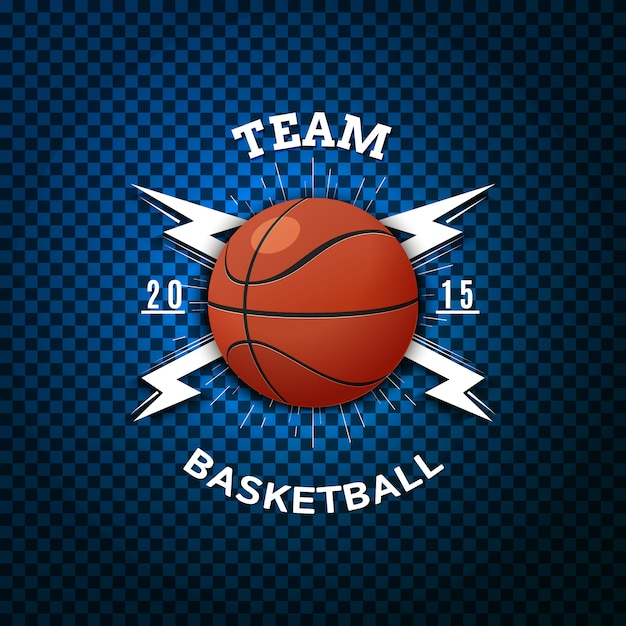 Basketball abzeichen logos und etiketten Premium Vektoren