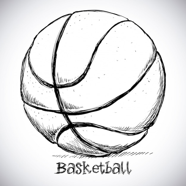 Basketball-design Premium Vektoren