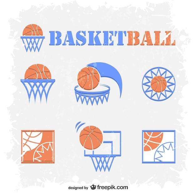 Basketball-embleme kostenlos vektor-set Kostenlosen Vektoren